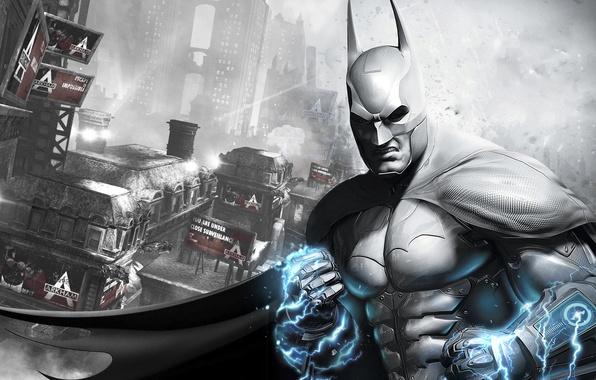 Picture the city, armor, cloak, gadget, prison, current, Batman: Arkham City Armored Edition, slums, Gotham, Bruce …