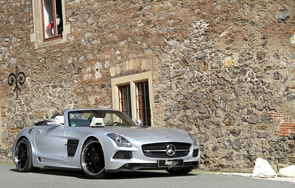 Picture tuning, Mercedes-Benz, car, AMG, SLS, the front, Borrasca, Inden-Design