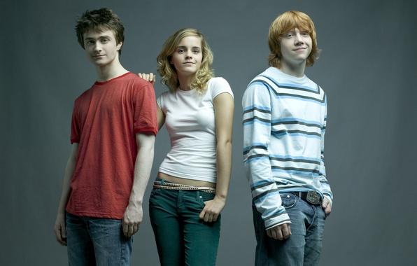 Picture Emma Watson, emma watson, Harry Potter, hermione granger, harry potter, Daniel Radcliffe, daniel radcliffe, Rupert …