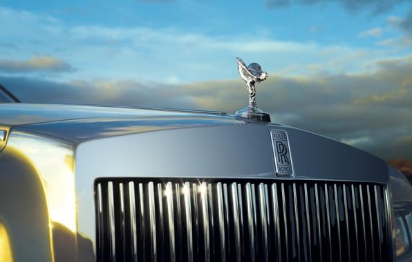 Picture the sky, Phantom, Rolls Royce, limousine, phantom, grille, the spirit of ecstasy, Spirit of Ecstasy, …