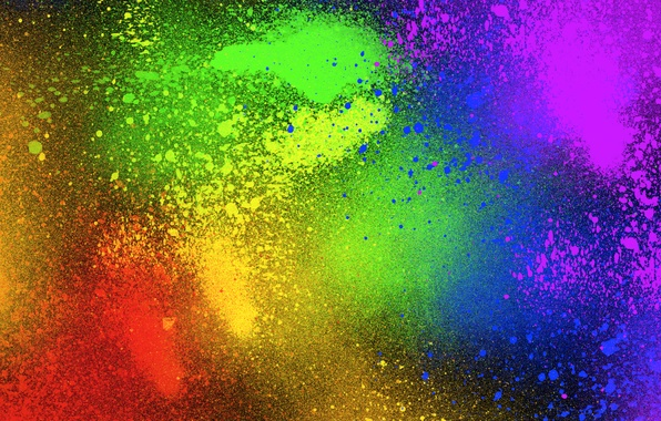 Photo Wallpaper Color Spray Colorful