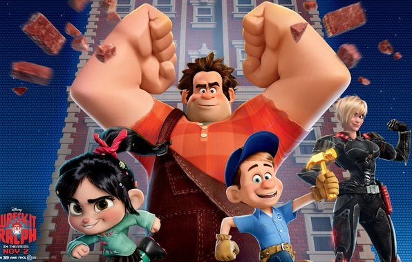 Picture background, cartoon, movies, Wallpaper, cartoon, heroes, characters, wallpapers, Ralph, ralph