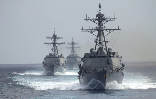 Picture sea, weapons, army, USS Michael Murphy (DDG 112), USS Gridley (DDG 101), The guided-missile destroyers …