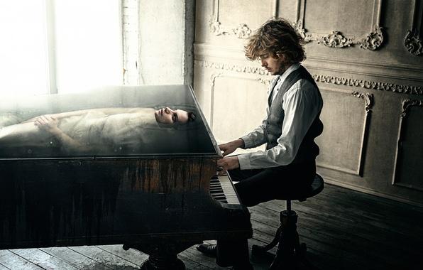Picture girl, creativity, Muse, Muse, Andrew Vasiliev, Dmitry Rogozhkin, pianist