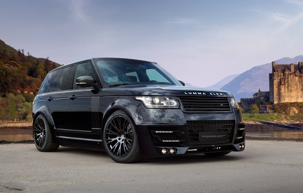 Picture Land Rover, Range Rover, Sky, Front, Black, Tuning, Lumma Design
