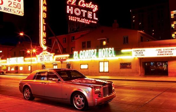 Picture night, Neon, Rolls-Royce, Phantom, advertising