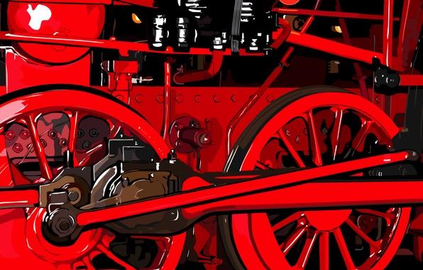 Picture mechanism, the engine, Train, locomotive