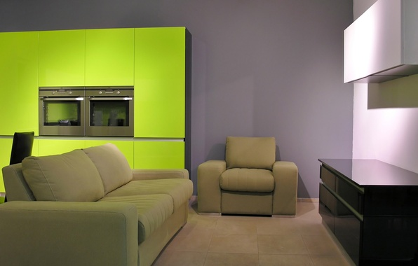 Picture green, table, room, sofa, interior, chair, pillow, plate, apartment, locker