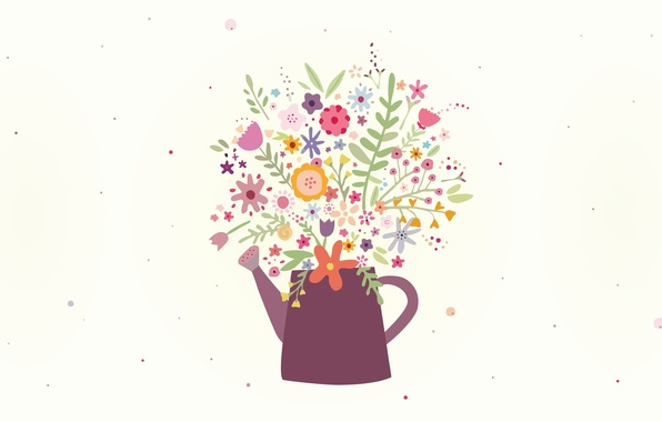 Picture flowers, figure, bouquet, may, lake, Design, Veronica Valenzuela