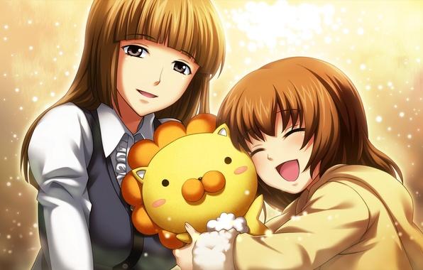 Picture girl, joy, emotions, toy, Leo, girl, sparks, umineko no naku koro ni, ushiromiya maria, ushiromiya …