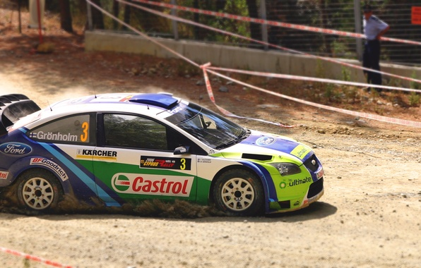 Picture Ford, Auto, Sport, Machine, Turn, Race, Skid, Day, Focus, WRC, Rally, Championship, Side view