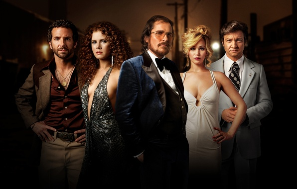 Picture Bradley Cooper, Jennifer Lawrence, Jeremy Renner, Christian Bale, Amy Adams, American Hustle, Scam American