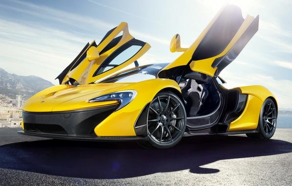 """Picture auto, McLaren, supercar, open doors, door """"butterfly wings"""", McLaren P1"""