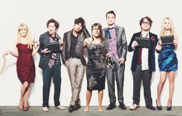 Picture the series, the big Bang theory, actors, the big bang theory, Penny, Leonard, Sheldon, comedy