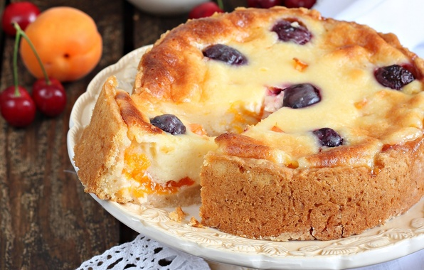 Picture cherry, pie, apricot, cakes