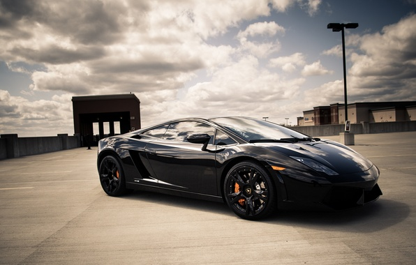 Picture black, Lamborghini, Gallardo, black, Lamborghini, Gallardo