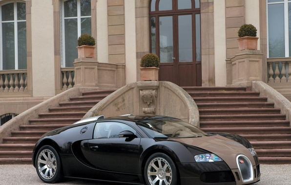 Picture Ladder, Steps, Gravel, Bugatti Veyron
