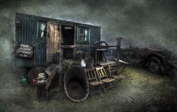 Picture machine, house, style, background