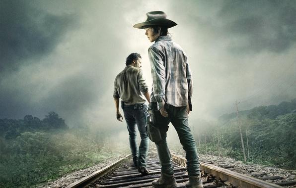 Picture Zombie, Sky, Men, Wallpaper, Horror, TV Series, Hat, Cloud, Fog, The Walking Dead, Forest, Andrew …