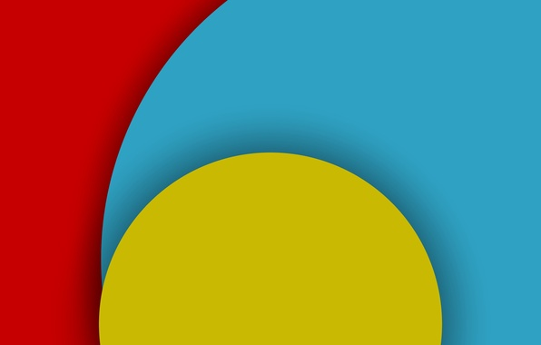 Picture Android, Red, Circles, Blue, Design, 5.0, Line, Yellow, Colors, Lollipop, Stripes, Abstraction, Material, Hemicycle