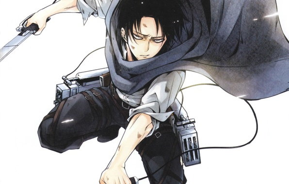 Picture hatred, the battle, swords, the invasion of the giants, Shingeki no kyojin, Levi Ackerman
