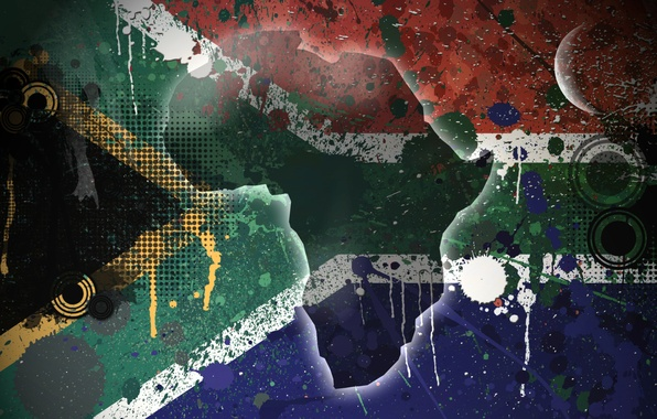 Picture island, flag, Texture, South Africa, South Africa