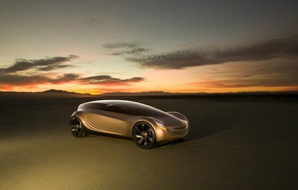 Picture sunset, the concept car, Mazda Nagare