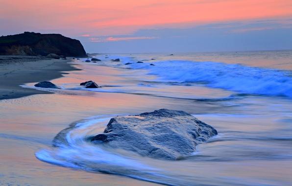 Picture sea, beach, wave