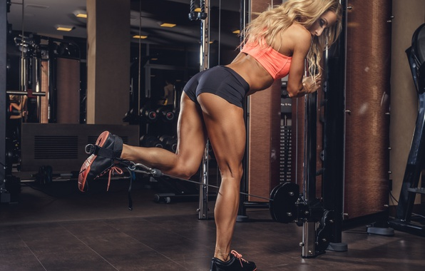 Picture legs, muscles, blonde, workout, fitness, bodybuilder