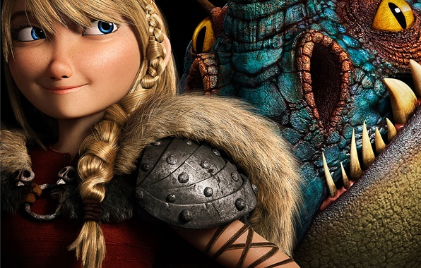 Picture Girl, Dark, Action, Fantasy, Dragon, Blue, DreamWorks, Wallpaper, Family, Eyes, Blonde, Animation, Viking, Movie, Film, …