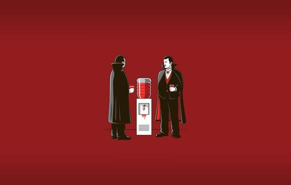 Picture blood, office, vampires, cooler, break