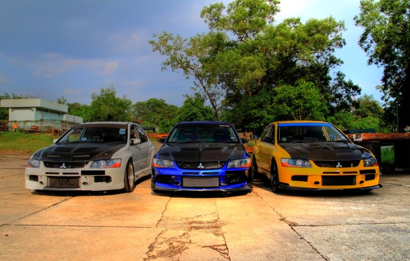 Picture tuning, three, Mitsubishi, Lancer, EvolutionIXGT