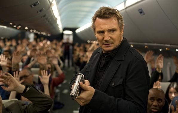 Picture Thriller, action, Liam Neeson, Liam Neeson, Non-Stop