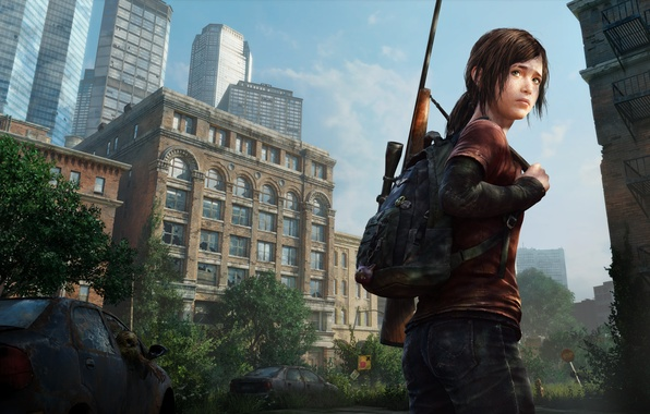 Picture machine, the city, Apocalypse, girl, Ellie, the end of the world, epidemic, The Last of …