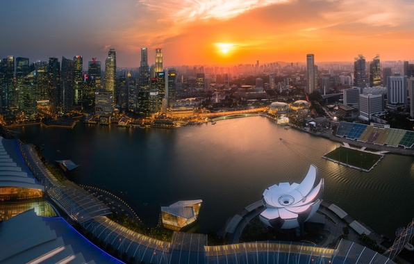 Picture singapore, sunlight, marina bay