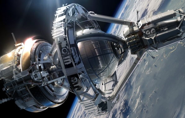 Picture space, fiction, ship, planet, stars, space, sky, stars, spaceship, cruiser, sci-fi, Ender's Game, Enders Game, …