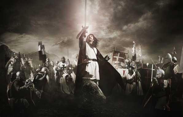 Picture weapons, background, sword, armor, knights, the crusaders