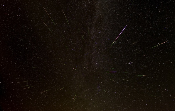Picture space, stars, drop, the Perseids