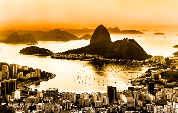 Picture dawn, panorama, Brazil, the view from the top, Rio de Janeiro, Rio de Janeiro