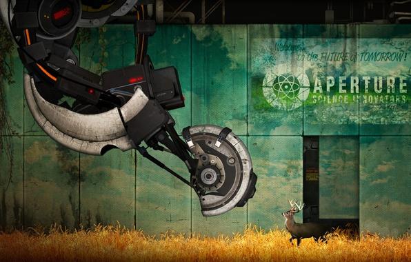 Picture deer, Portal 2, GLaDOS, Portal 2, science innovators, aperture