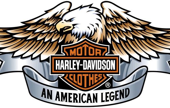 Picture Harley Davidson, logo, eagle, engine
