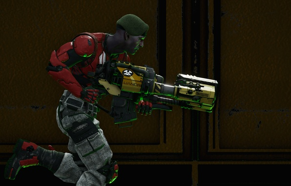 Picture weapons, background, soldiers, Unreal Tournament