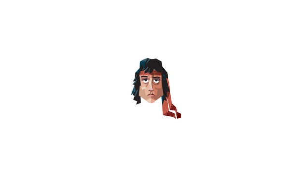 Picture face, minimalism, Sylvester Stallone, Rambo