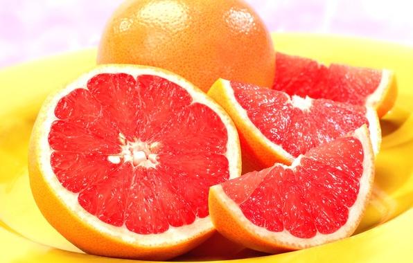 Picture plate, fruit, grapefruit, grapefruit