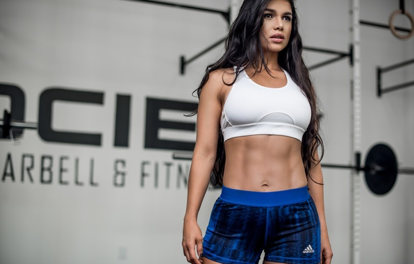 Picture girl, face, style, background, hair, figure, sports, fitness, Luz