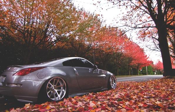 Picture autumn, street, nissan, 350z, Nissan