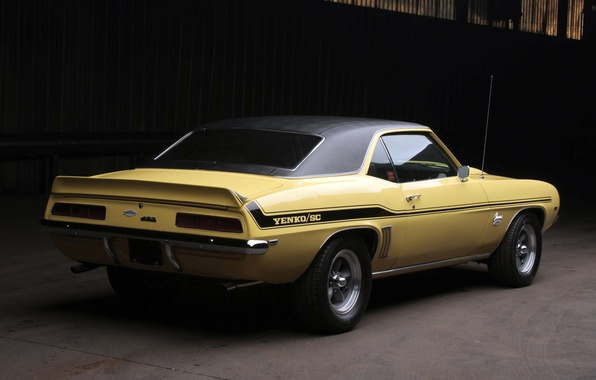 Picture background, Chevrolet, 1969, Camaro, Chevrolet, Camaro, rear view, Muscle car, 427, Yenko, Muscle car