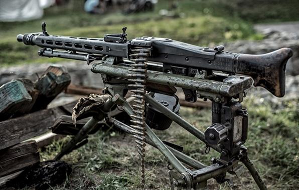 Picture weapons, war, machine gun, German, world, Second, times, MG 42, single, (Machine gun 42)
