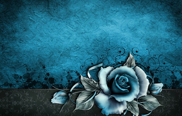 Picture paper, background, rose, texture, wallpaper, rose, vintage, texture, blue, vintage, grunge, paper, floral