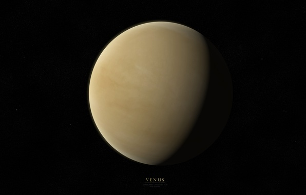 Picture stars, light, planet, shadow, Venus, Venus